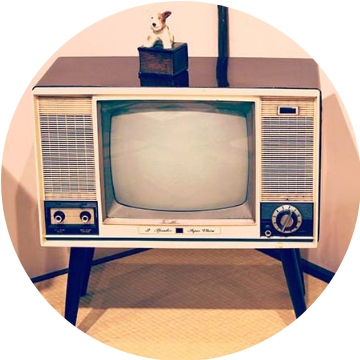 old tv console