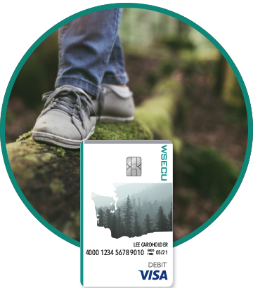 Walking on a log and WSECU Debit Card